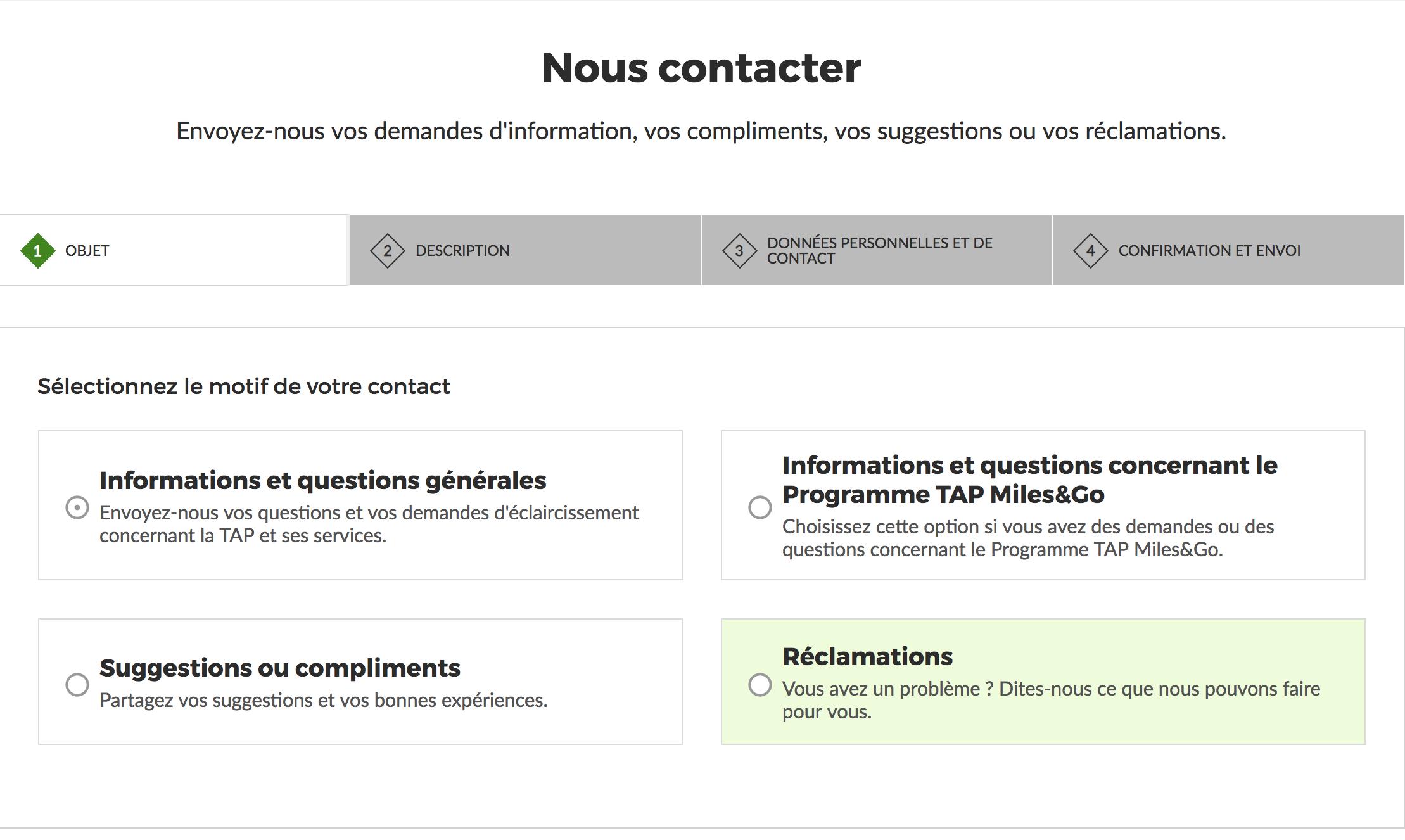 contacter tap