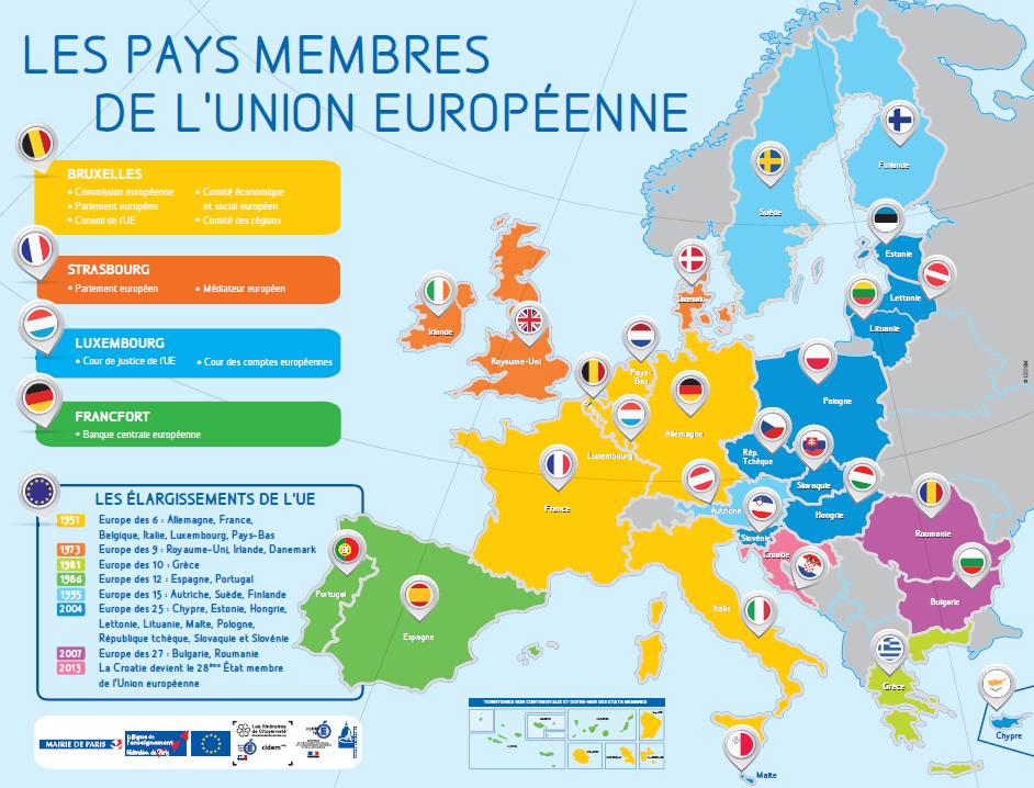 Carte Etats UE