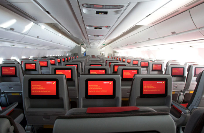 Cabine d'un avion Iberia