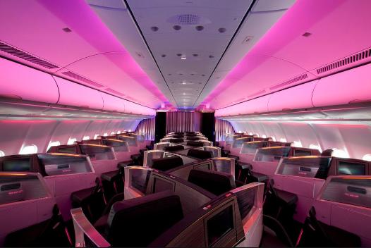 Photo d'une première classe Virgin Atlantic